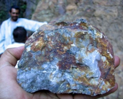 Mineralised Rock sample at La Chorrora.